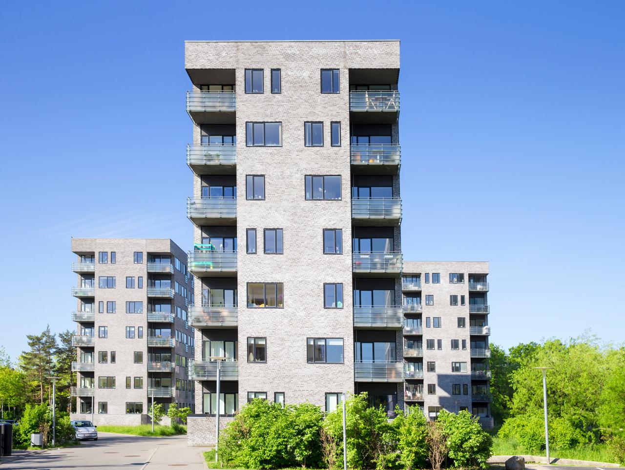 Gyngemose Parkvej, Højhus, skov, Søborg, ejerlejelighed, etage, altan, arkitekturfotograf