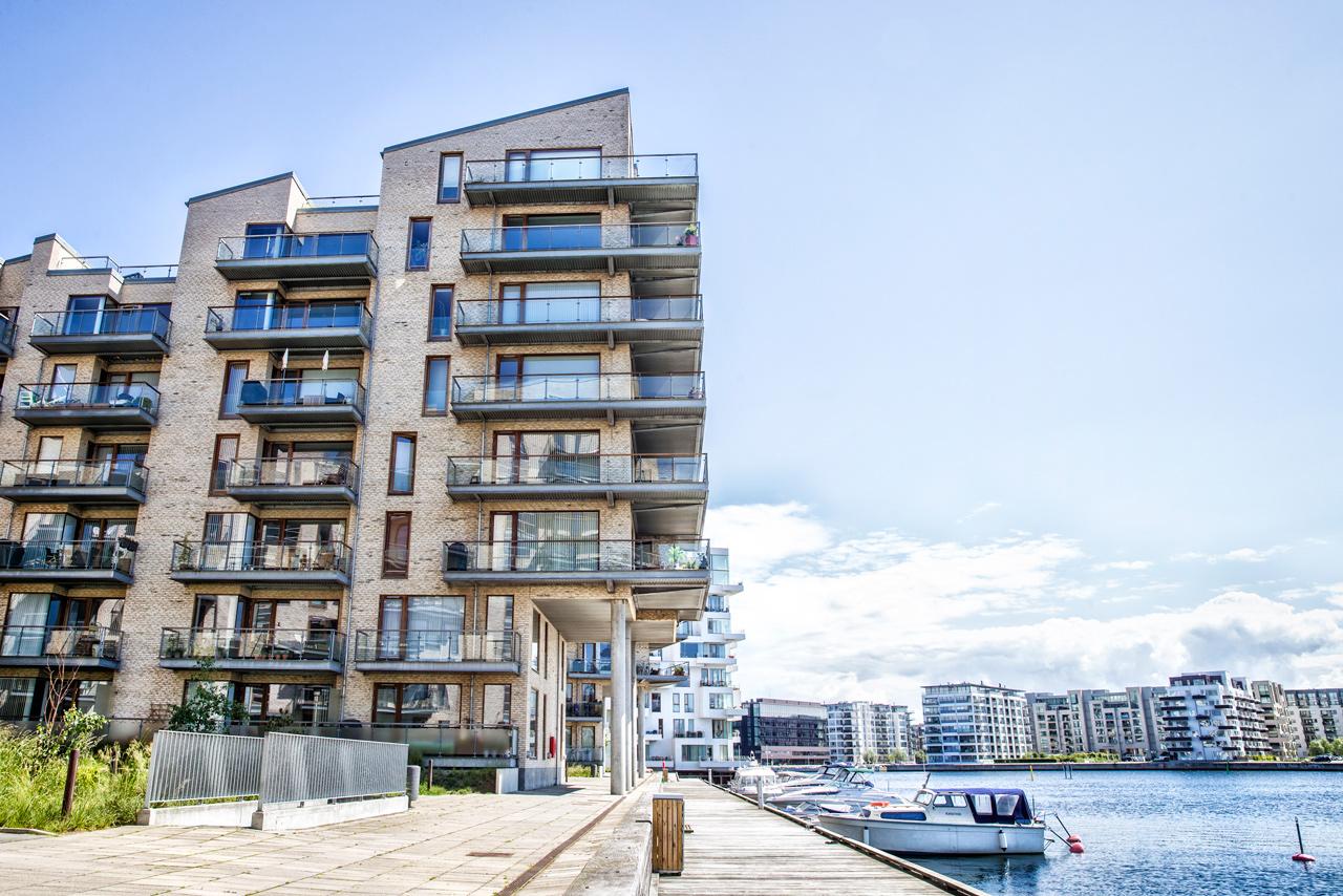 Havneholmen, vand, lejeligheder, arkitekturfotograf, København