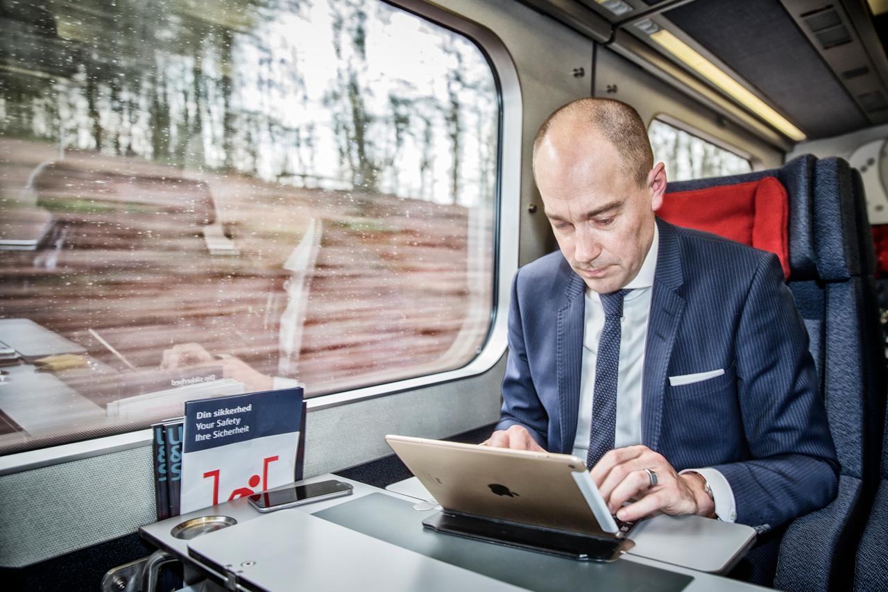Magnus Heunicke, koege, station, pendler, dsb, socialdemokratiet, tog, ipad
