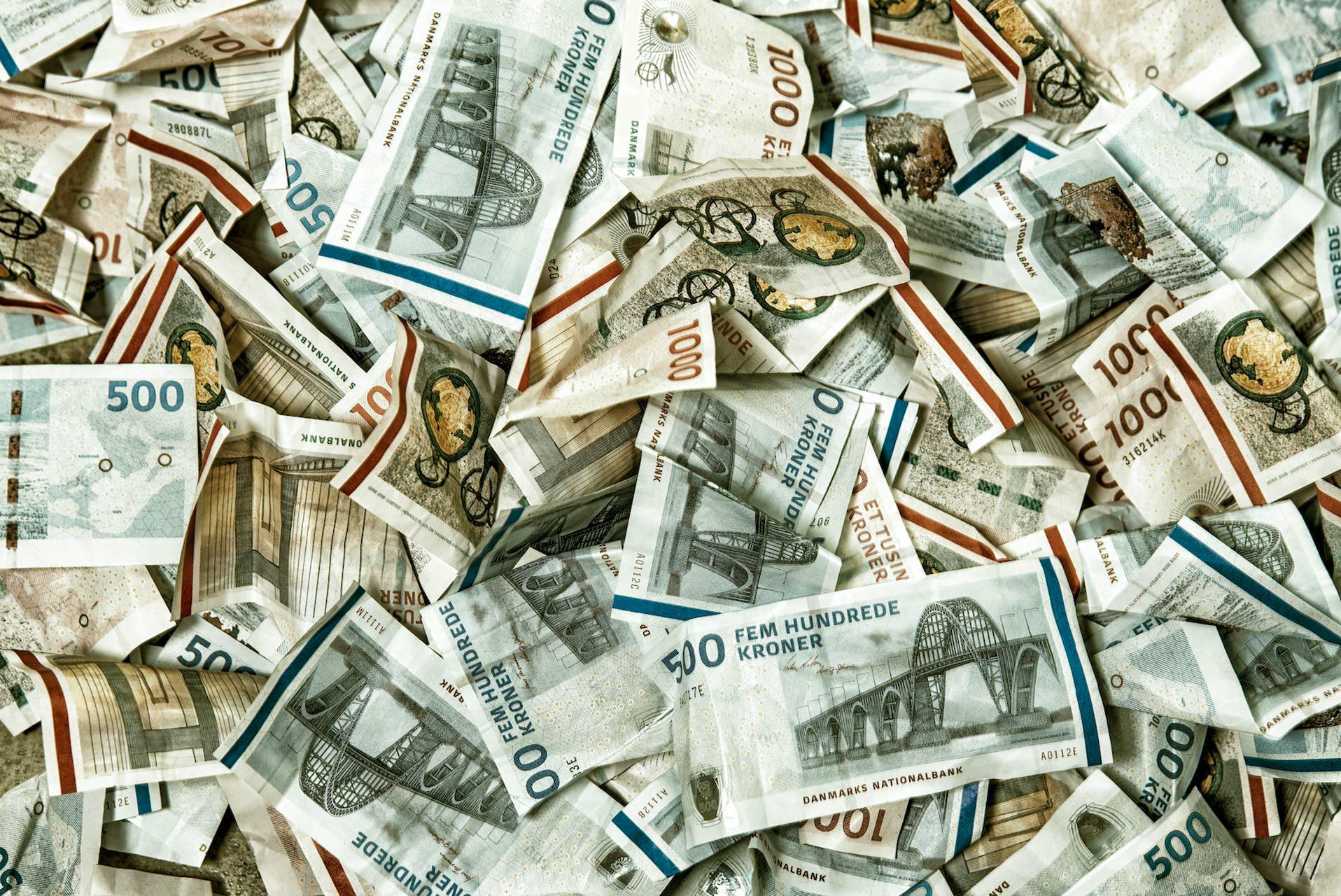 penge, sedler, lån, gaver