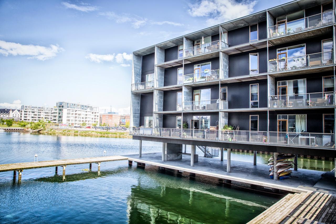 Peter Holms vej, Teglholmen, københavn, vand, kajak, arkitekturfotograf