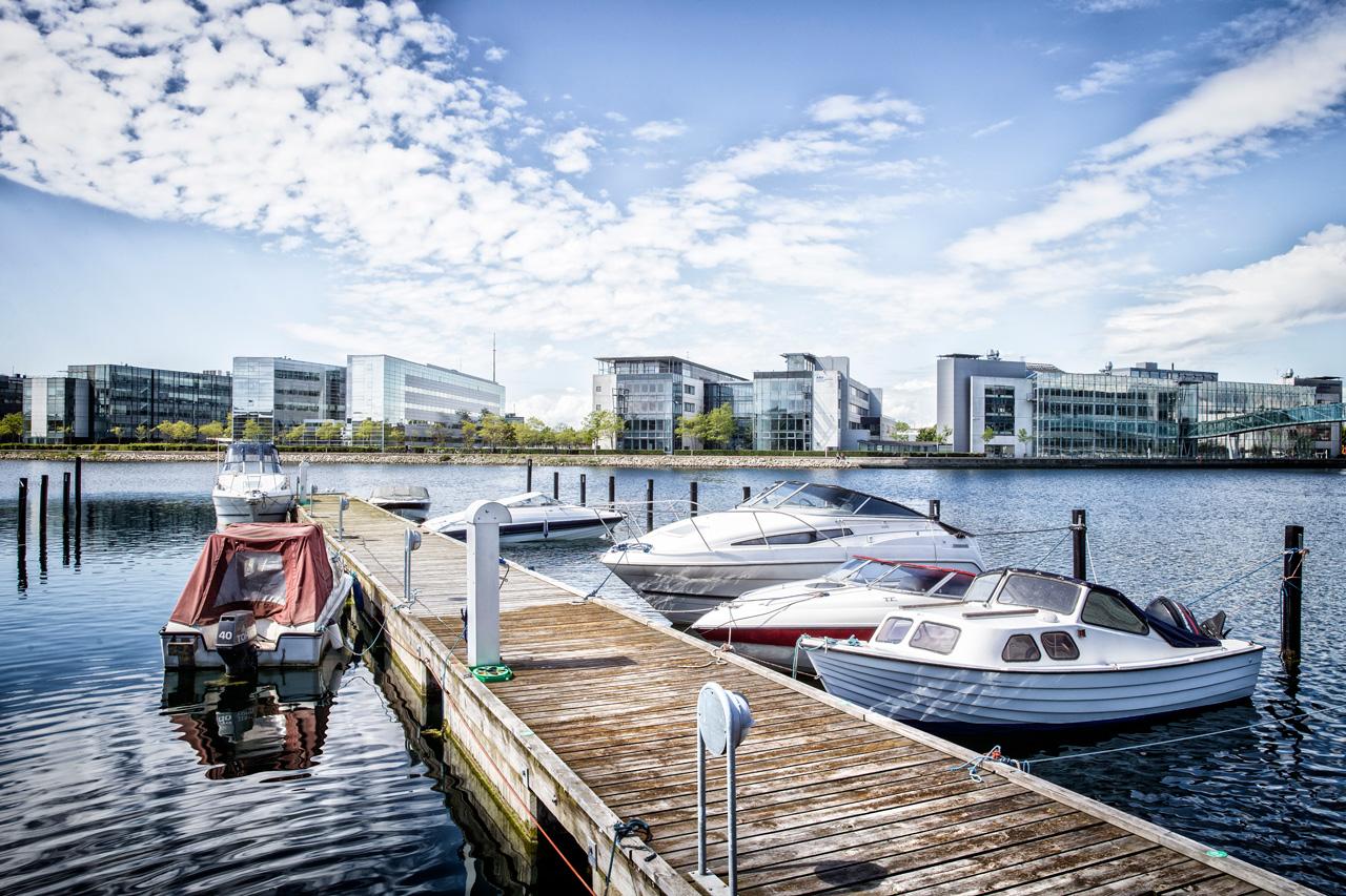 Peter Holms vej, båd, Københavnshavn, Teglholmen, arkitekturfotograf