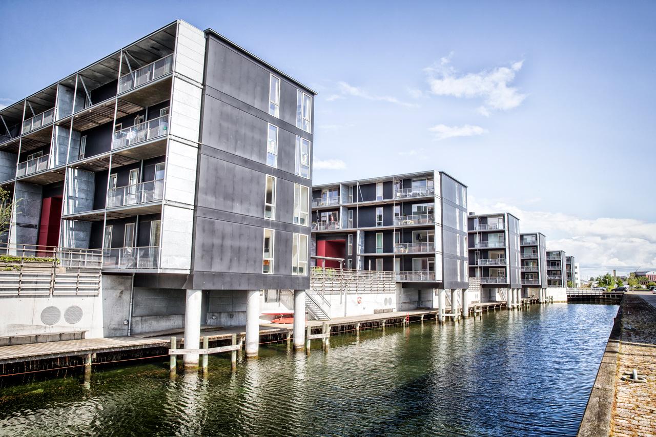 Peter Holms vej, Teglholmen, lejelejligheder, huslejestigninger, københavn, arkitekturfotograf