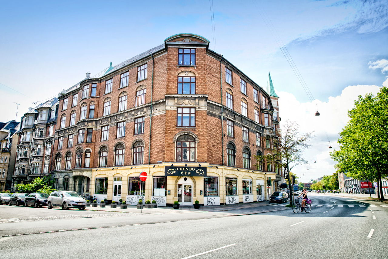 københavn, arkitekturfotograf, vej, biler, cykel, Lejligheder