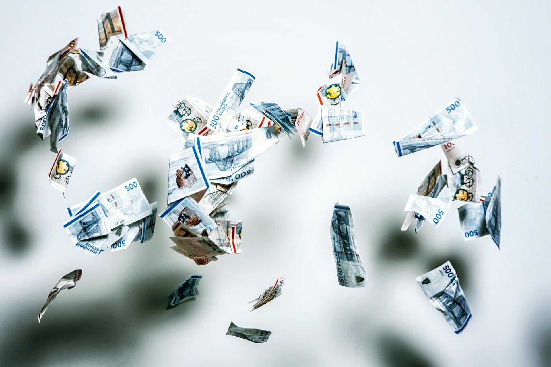 Penge, flyver, kontantløst, 1000 kr